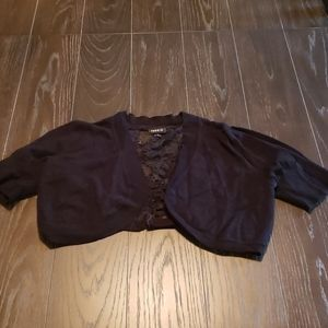 Womens plus size cropped cardigan
